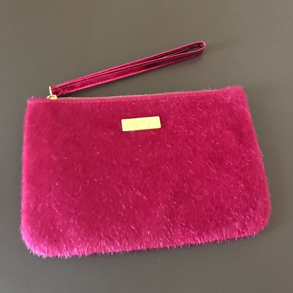7a3141d478 Ipsy Pink Wristlet Cosmetic Bag Zip Pouch
